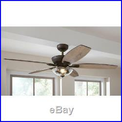 HDC Connor 54 LED Bronze Dual-Mount Ceiling Fan with Light Kit-Remote Control