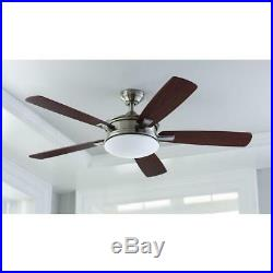 HDC Daylesford 52 LED Indoor Brushed Nickel Ceiling Fan withLight Kit and Remote