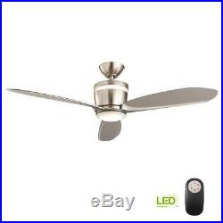 HDC Federigo 48 in. Integrated LED Indoor Nickel Ceiling Fan with Light Kit