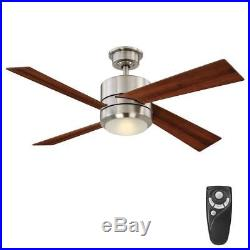 HDC Healy 48 in. LED Indoor Nickel Ceiling Fan with Light Kit and Remote Control
