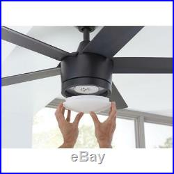 HDC Merwry 52 in. Integrated LED Indoor Matte Black Ceiling Fan with Light Kit