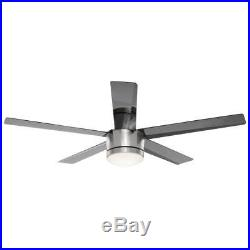 HDC Merwry 52 in. LED Brushed Nickel Ceiling Fan with Light Kit + Remote Control