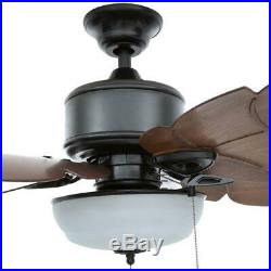 HDC Palm Cove 52 LED Indoor/Outdoor Natural Iron Ceiling Fan with Opt Light Kit