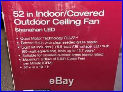 HDC Shanahan 52 LED Indoor/Outdoor Bronze Ceiling Fan with Light Kit 59201