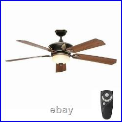 HDC Wineberg 60 Indoor Old World Gold Ceiling Fan with Light Kit & Remote