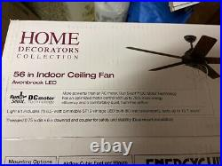 HOME DECORATORS Avonbrook 56 in. LED Bronze Ceiling Fan with Light Kit New