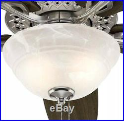 HUNTER Heathrow 52 Indoor Brushed Nickel Ceiling Fan with LED Light Kit 52119