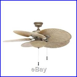 Hampton Bay 48 in. Indoor/Outdoor Cambridge Silver Ceiling Fan with Light Kit
