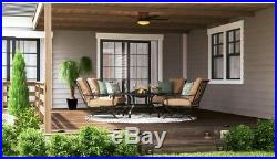 Hampton Bay 48 in. LED Indoor/Outdoor Natural Iron Ceiling Fan with Light Kit