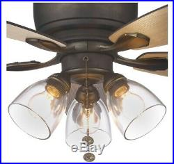 Hampton Bay 51825 Stoneridge 52 in. Bronze Hugger LED Ceiling Fan with Light Kit