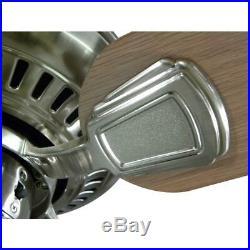 Hampton Bay 52 Ceiling Fan Light Kit Remote Control LED Indoor Brushed Nickel