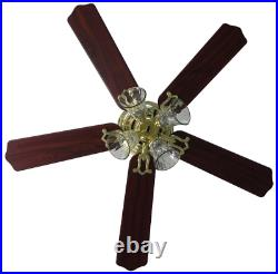 Hampton Bay 52 Ceiling Fan With Light Kit Indoor 5 Blade Polished Brass