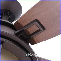 Hampton Bay 52 In. Oil-Rubbed Bronze Ceiling Fan With Light Kit Remote Control