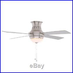 Hampton Bay 52 Wentworth Brushed Nickel Ceiling Fan with Light Kit 3 Speed Pull