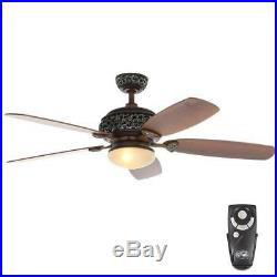 Hampton Bay 52 in. Indoor Caffe Patina Ceiling Fan with Light Kit. / 121