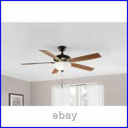 Hampton Bay Abbeywood 60 in. LED Espresso Bronze Ceiling Fan With Light Kit (970)