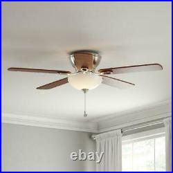 Hampton Bay Adonia 52 in. LED Indoor Brushed Nickel Ceiling Fan with Light Kit