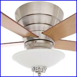 Hampton Bay Andross 48 in. Indoor Brushed Nickel Ceiling Fan with Light Kit