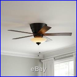 Hampton Bay Andross 48 in. Indoor Oil-Rubbed Bronze Ceiling Fan with Light Kit