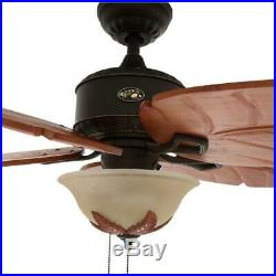 Hampton Bay Antigua Plus 56 LED Ind. Oil Rubbed Bronze Ceiling Fan withLight Kit