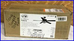 Hampton Bay Asbury 60 in. LED Indoor Oil Rubbed Bronze Ceiling Fan Light Kit V3