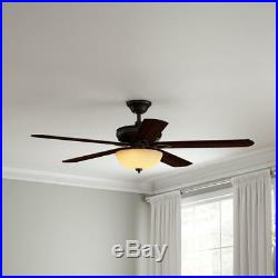 Hampton Bay Asbury 60 in. LED Indoor Oil Rubbed Bronze Ceiling Fan With Light Kit