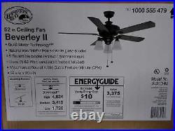 Hampton Bay Beverley II 52 in. Indoor Natural Iron Ceiling Fan with Light Kit