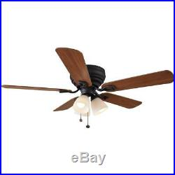 Hampton Bay Blair 52 in. LED Indoor Oil-Rubbed Bronze Ceiling Fan with Light Kit