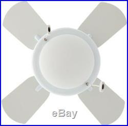 Hampton Bay Ceiling Fan Dome Light Kit 24 Inch Coastal Indoor Pull Chain White