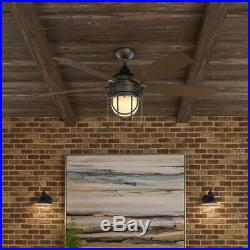 Hampton Bay Ceiling Fan Light Kit 52 in. LED 5-Blades 3-Speed Indoor/Outdoor
