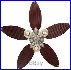 Hampton Bay Ceiling Fan Light Kit Indoor 52 in. Bamboo Blades Reversible Motor