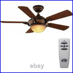 Hampton Bay Ceiling Fan Light Kit Remote Control 44 Inch LED Indoor Gilded New