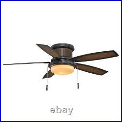 Hampton Bay Ceiling Fan Light Kit Roanoke LED Indoor Outdoor Natural Iron 48 in