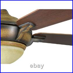 Hampton Bay Ceiling Fan Light Kit and Remote Control LED Indoor Espresso 44 in