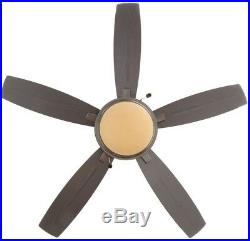Hampton Bay Ceiling Fan with Light Kit 48 in. LED Indoor/Outdoor Natural Iron