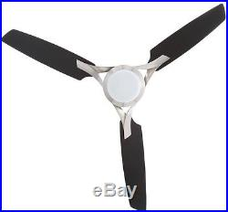 Hampton Bay Ceiling Fan with Light and Remote Control Kit Brushed Nickel 3 Blade