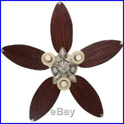 Hampton Bay Colonial Bamboo 52 in. Indoor Pewter Ceiling Fan WithLight Kit &Remote