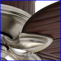 Hampton Bay Colonial Bamboo 52 in. Indoor Pewter Ceiling Fan with Light Kit
