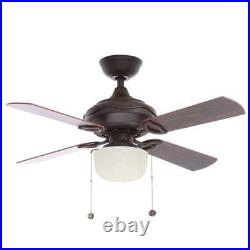 Hampton Bay Courtney 42 in. Indoor Oil Rubbed Bronze Ceiling Fan with Light Kit