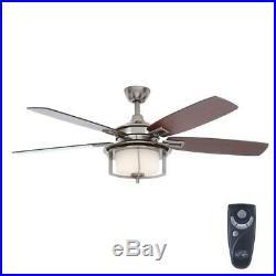 Hampton Bay Devereaux II 52¨ Indoor Gunmetal Ceiling Fan withLight Kit and Remote