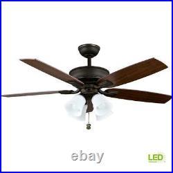 Hampton Bay Devron 52 Indoor Oil Rubbed Bronze Ceiling Fan with LED Light Kit