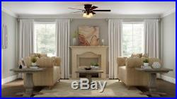 Hampton Bay Eastvale 52 In. Indoor Berre Walnut Ceiling Fan With Light Kit New