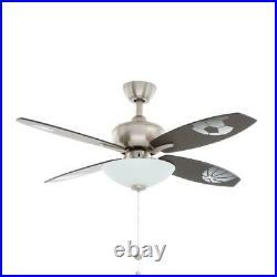 Hampton Bay Everstar 44 in. Indoor Brushed Nickel Ceiling Fan with Light Kit