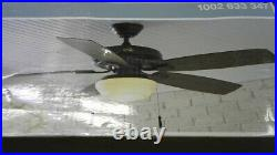 Hampton Bay Gazebo 52 LED Indoor/Outdoor Natural Iron Ceiling Fan with Light Kit