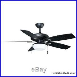 Hampton Bay Gazebo 52¨ LED Indoor/Outdoor Natural Iron Ceiling Fan withLight Kit