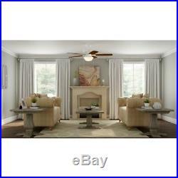Hampton Bay Gazebo 52 in. LED Indoor/Outdoor White Ceiling Fan with Light Kit