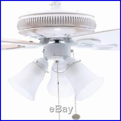 Hampton Bay Glendale 52 in. Indoor White Ceiling Fan with Light Kit (AG524-WH)