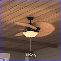 Hampton Bay Havana 48 in. Indoor/Outdoor Natural Iron Ceiling Fan with Light Kit
