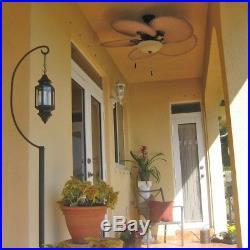 Hampton Bay Havana 48 in. LED Indoor/Outdoor Natural Iron Ceiling Fan Light Kit