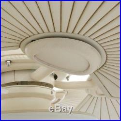 Hampton Bay Havana 48 in. LED Vintage White Ceiling Fan With Light Kit New